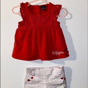 Tommy Hilfiger Lace Shirt With Matching Shorts